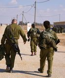 Soldats avant un exercice Images libres de droits