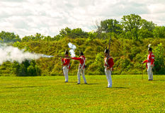 Soldats britanniques dans le fort George Photographie stock libre de droits