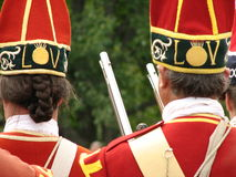 Soldats britanniques portés en équilibre Image stock