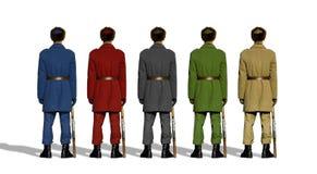 Soldats colorés image stock