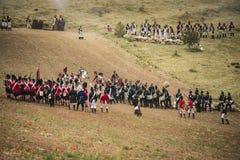 Soldats combattant dans les fossés Image stock