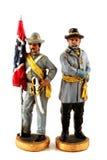 Soldats confédérés de jouet Photo stock