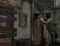 Soldats d'élite dans l'action illustration de vecteur