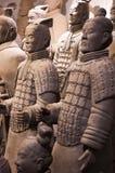 Soldats d'armée de terre cuite, Xian Chine, course Image libre de droits