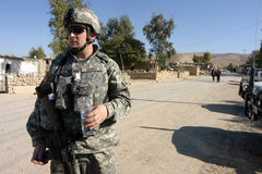 Soldats d'armée des Etats-Unis en Irak images libres de droits