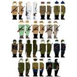 Soldats d'uniformes des services spéciaux russes Photographie stock libre de droits