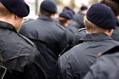 Soldats dans l'uniforme Image libre de droits