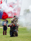 1700 soldats dans la bataille Image stock
