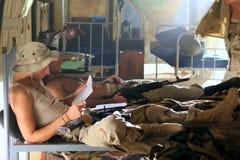 Soldats dans les casernes Photos libres de droits