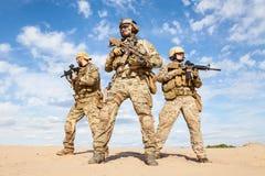 Soldats de groupe de forces spéciales de l'armée américaine Photos libres de droits