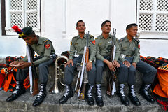 Soldats de gurkha de Nepali Photos stock