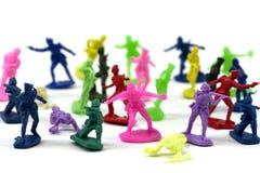 Soldats de jouet colorés Photo libre de droits