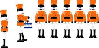 Soldats de jouet en bois Image libre de droits