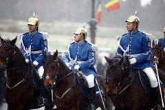 Soldats de jour national de la Roumanie Images libres de droits
