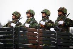 Soldats de jour national de la Roumanie Photographie stock