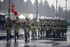 Soldats de jour national de la Roumanie Photo libre de droits