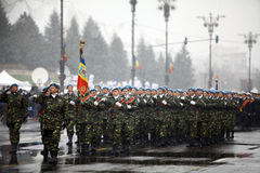 Soldats de jour national de la Roumanie Photographie stock libre de droits