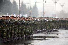 Soldats de jour national de la Roumanie Image stock