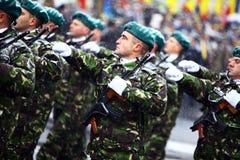 Soldats de jour national de la Roumanie Photo stock