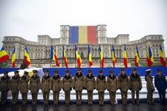 Soldats de jour national de la Roumanie Photos stock