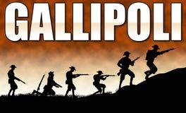 Soldats de l'illustration a d'ANZAC illustration libre de droits