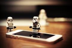 Soldats de la cavalerie de Lego Storm images stock
