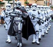Soldats de la cavalerie de tempête de Guerres des Étoiles de studios d'Orlando Florida Hollywood du monde de Disney images libres de droits