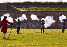 Soldats de Louisbourg Images libres de droits