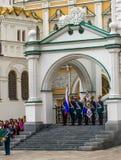 Soldats de régiment de Kremlin Photos libres de droits