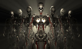 Soldats de robot images libres de droits