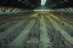 Soldats de terre cuite dans XI le ` la Chine Photographie stock