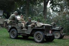 Soldats des Etats-Unis près de pont de Nimègue Photos stock