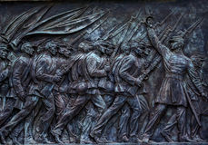Soldats des syndicats chargeant la statue Capitol Hill commémoratif Wa des USA Grant Images stock
