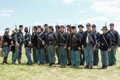 Soldats des syndicats prêts Photographie stock