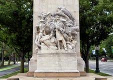Soldats et marins de guerre civile commémoratifs par Hermon Atkins MacNeil, Benjamin Franklin Parkway, Philadelphie, Pennsylvanie image libre de droits