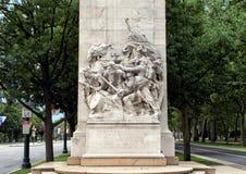 Soldats et marins de guerre civile commémoratifs par Hermon Atkins MacNeil, Benjamin Franklin Parkway, Philadelphie, Pennsylvanie image stock