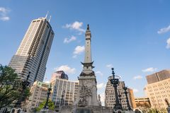 Soldats et monument de marins, Indianapolis, Indiana photographie stock