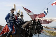 Soldats et yacht Photographie stock libre de droits