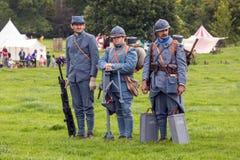 Soldats français d'infanterie de WW1 Photos stock