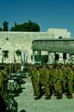 Soldats israéliens au kotel photo libre de droits