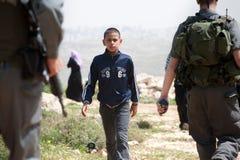 Soldats israéliens de métier en Palestine Image libre de droits