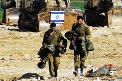Soldats israéliens - film encreur - armée militaire israélienne Image stock