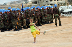 Soldats Liban de l'ONU image libre de droits