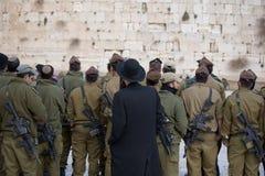Soldats neufs pour protéger le P.R. Photographie stock libre de droits