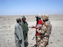 Soldats portant la paix Photo stock