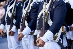 Soldats portugais du 19ème siècle de troupes Photographie stock