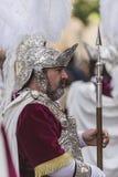 Soldats romains, appelés Armaos, de confrérie d'EL Nazareno, bon Images stock