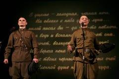 Soldats russes - amis militaires sur Victory Day Images libres de droits