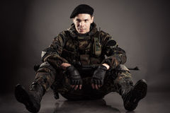 Soldatstillstehen Lizenzfreies Stockbild