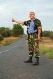 Soldattramper Stockfotografie